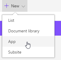 Add app to SharePoint Online