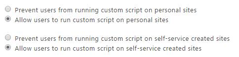 Enable scripting capabilities in Office 365