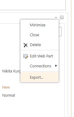 Export Form